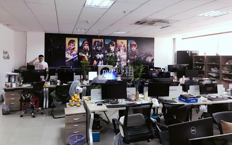 宝源华丰总部经济大厦写字楼出租251平米精装办公室75元/m².月