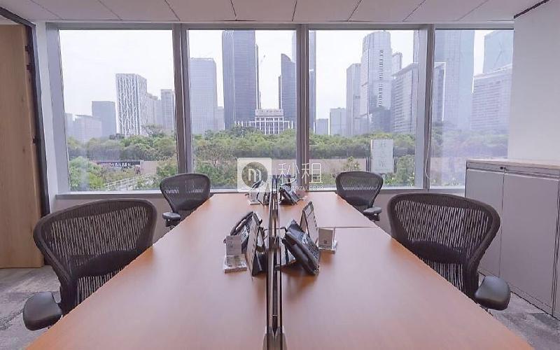 德事商務中心-嘉里建設廣場寫字樓出租45平米豪裝辦公室28000元/月