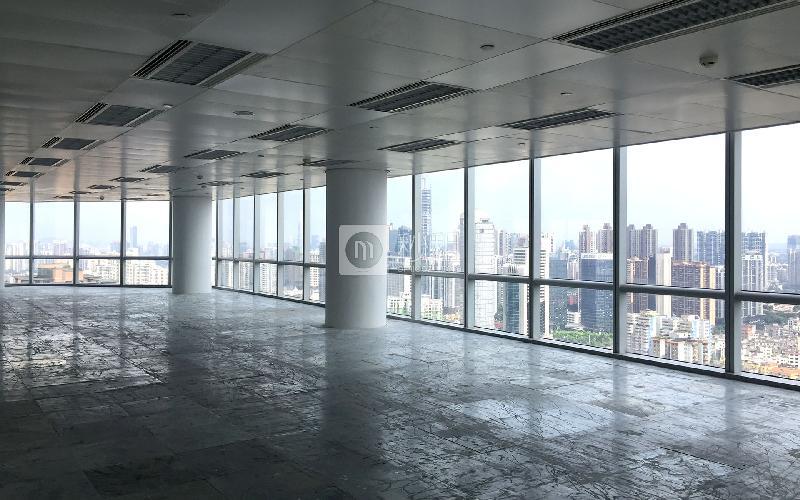 万菱国际中心写字楼出租1200平米精装办公室180元/m².月