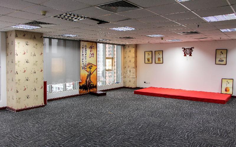 财富广场写字楼出租1000平米精装办公室150元/m².月
