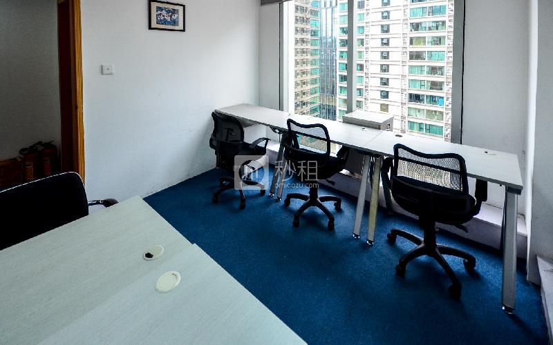 华普广场-创富港写字楼出租13平米精装办公室5800元/间.月