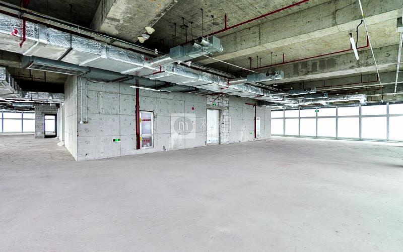 百度国际大厦写字楼出租900平米毛坯办公室200元/m².月