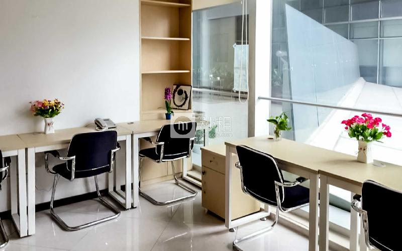 保利威座大厦-创富港写字楼出租6平米精装办公室2320元/间.月