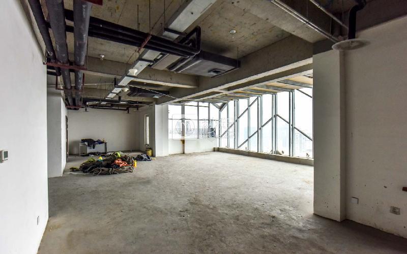 博海中心写字楼出租213平米毛坯办公室2.9元/m²/天