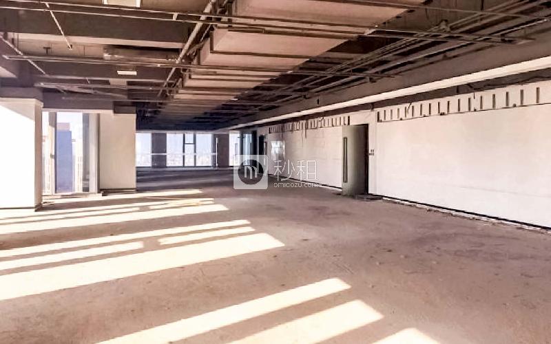 青岛中心大厦写字楼出租600平米毛坯办公室4.6元/m².天