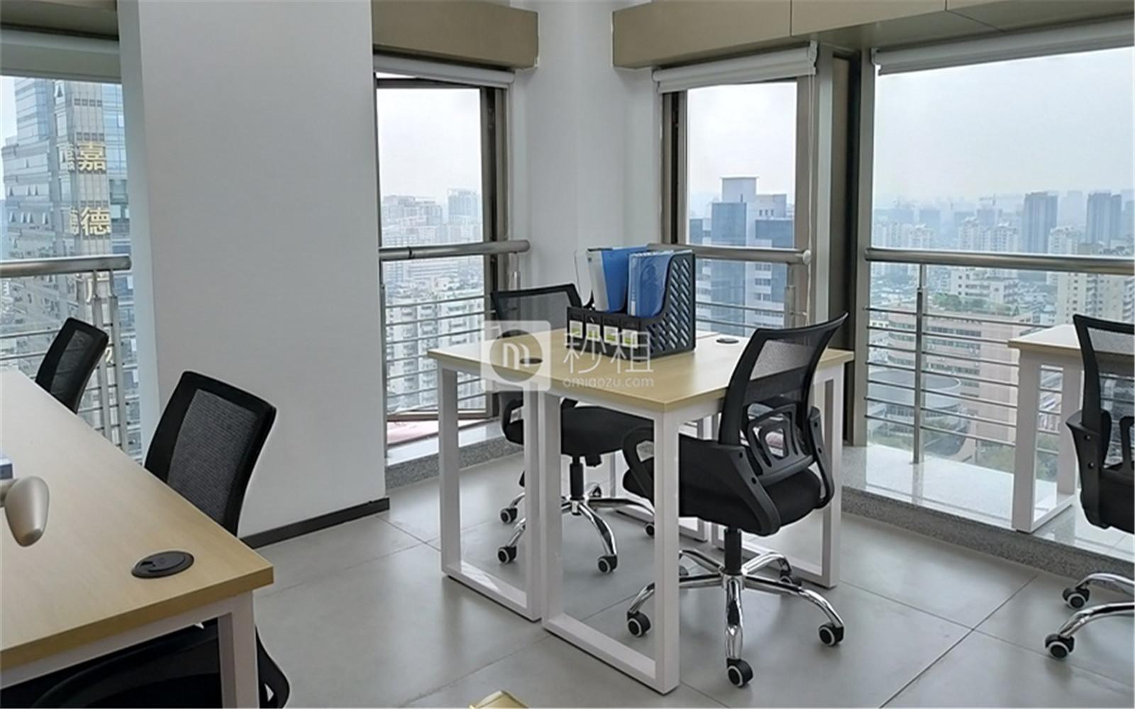 创富港-瑞丰国际商务大厦写字楼出租5平米精装办公室700元/工位.月