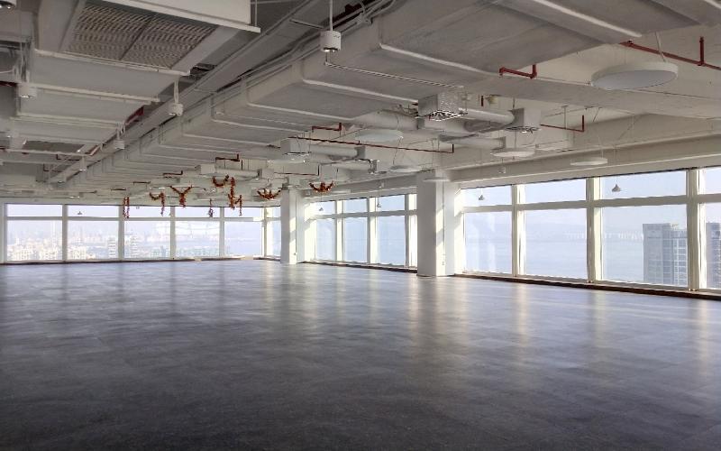 百度国际大厦写字楼出租1680平米毛坯办公室245元/m².月