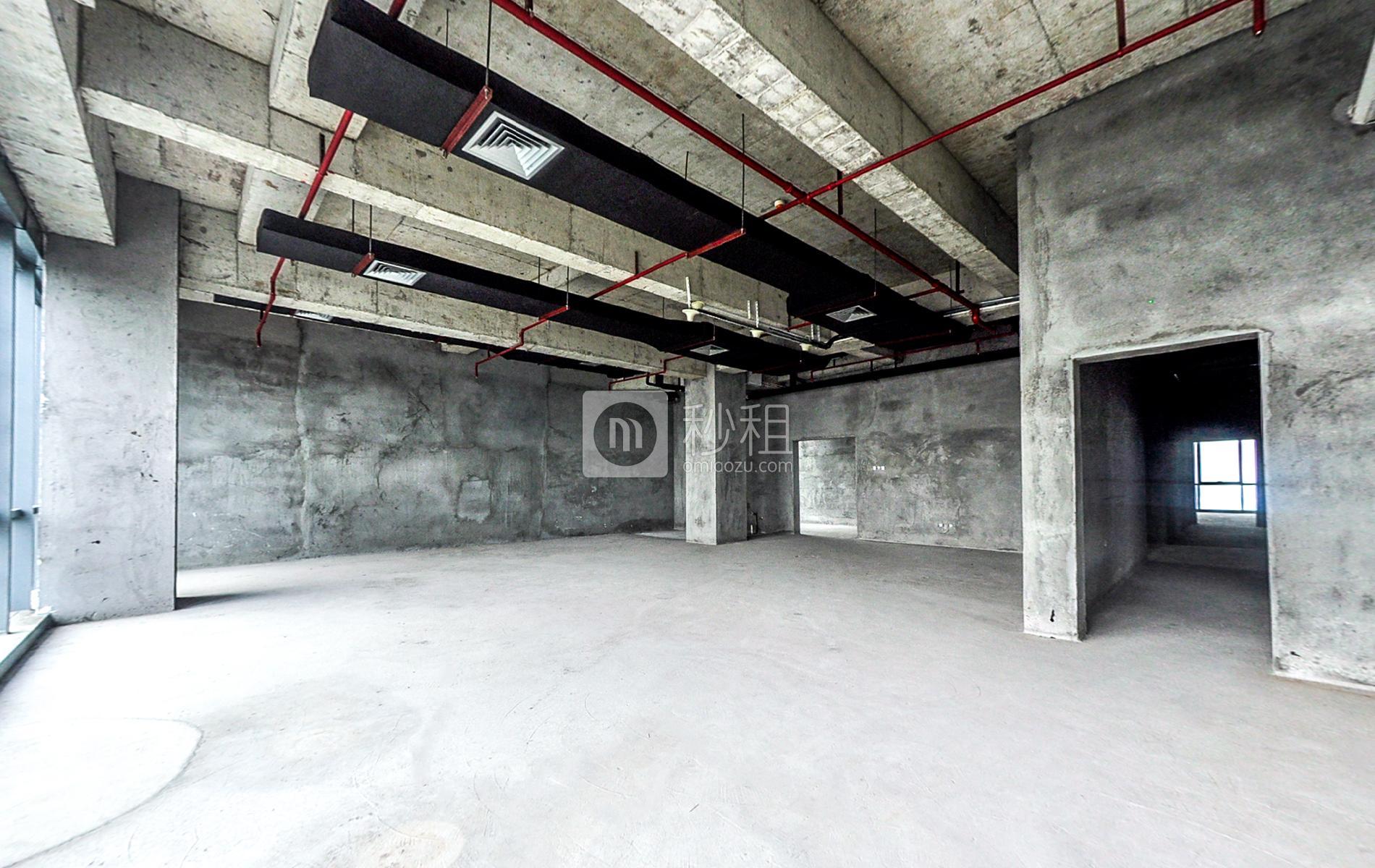 观澜湖国际大厦写字楼出租124平米毛坯办公室60元/m².月