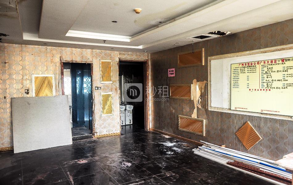 广东大酒店写字楼出租820平米毛坯办公室80元/m².月