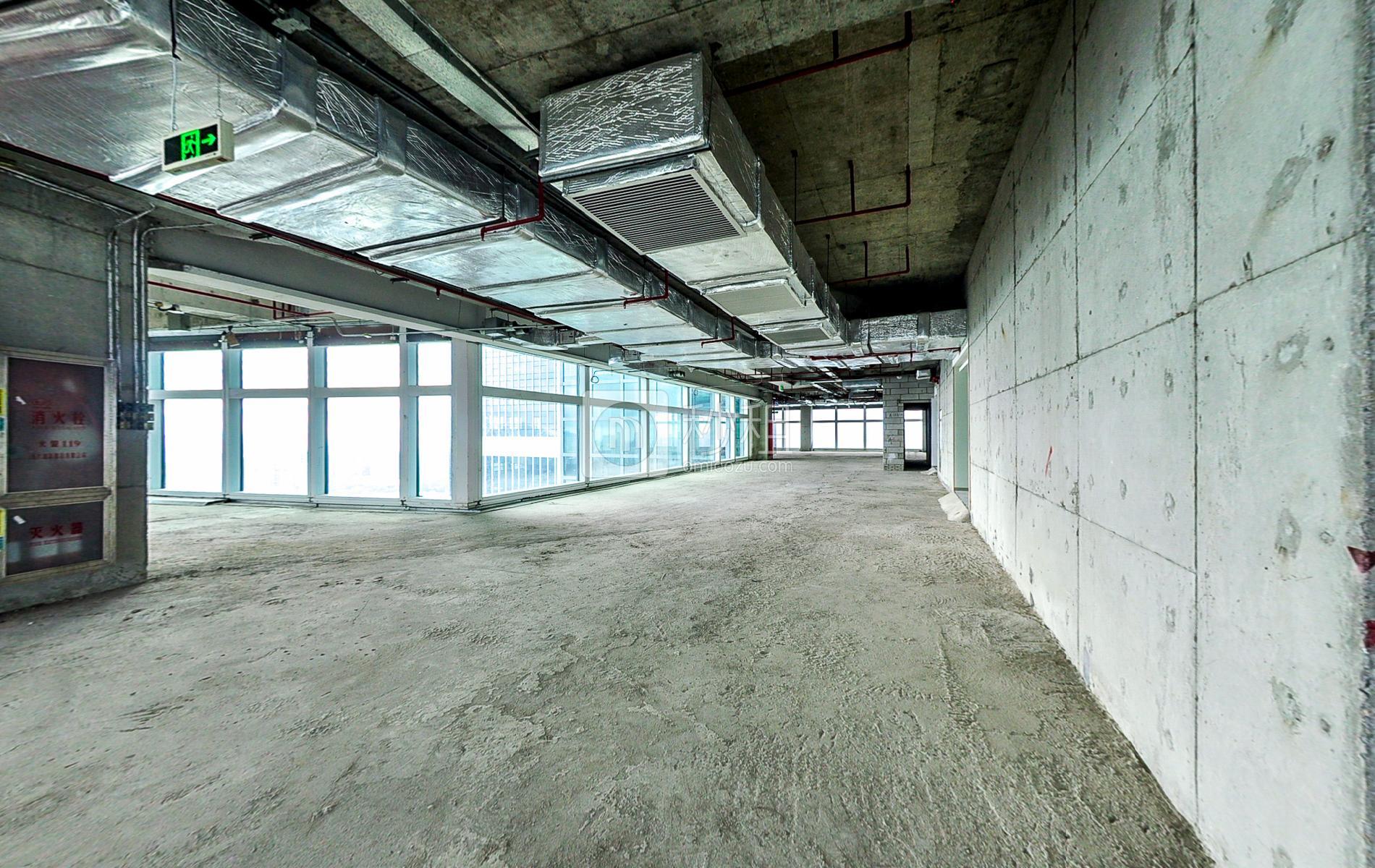 百度国际大厦写字楼出租800平米毛坯办公室180元/m².月